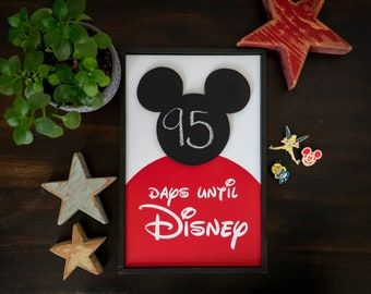Countdown to Disney, **FREE SHIPPING** Countdown to Disneyland, Countdown to Disneyworld, Days until Disney, Vacation countdown