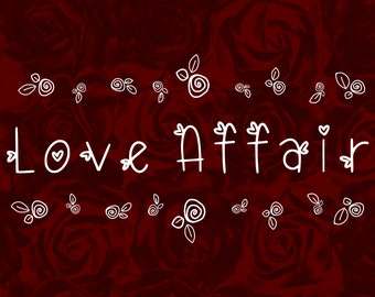 Love Affair Handwritten Font, instant download, perfect for Cricut, Sillouette or Glowforge. Commercial License.