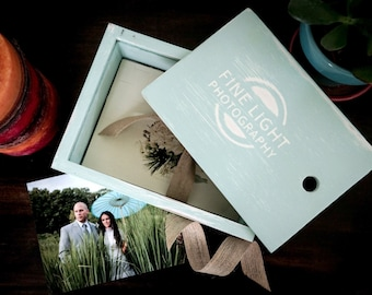 5X7 Custom Handmade Photo Box for 5x7 Prints - Refreshing Color