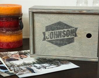 5x7 Vintage Photo Box With Logo + Free Shipping