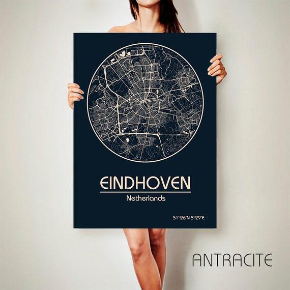 EINDHOVEN Netherlands CANVAS Map Eindhoven Netherlands Poster City Map  Eindhoven Netherlands Art Print Eindhoven Netherlands