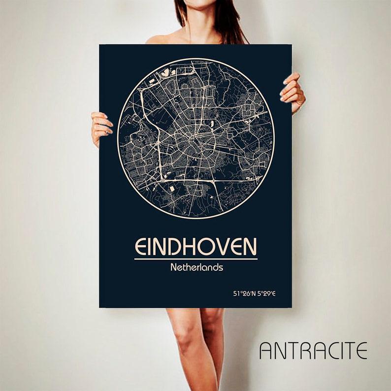 EINDHOVEN Netherlands CANVAS Map Eindhoven Netherlands Poster   Etsy