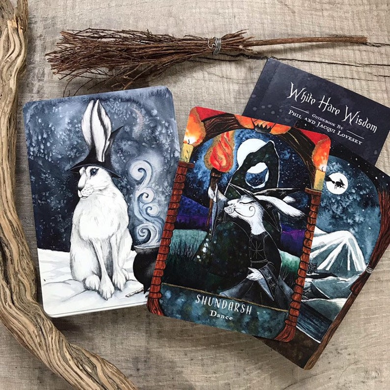 White Hare Wisdom  Oracle card Deck by Jacqui Lovesey  tarot image 0