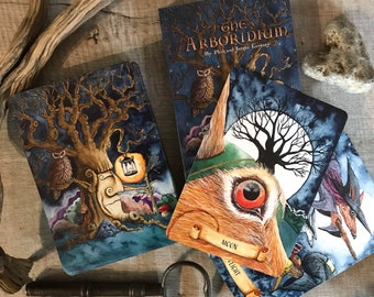 Oracle Deck - The Arboridium - 44 cards, signed by Jacqui & Phil Lovesey - tarot type cards, wellbeing, mindfulness, witch, pagan