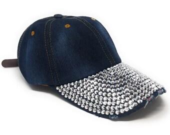 f524661d90375 Rhinestones Embellished Baseball Cap
