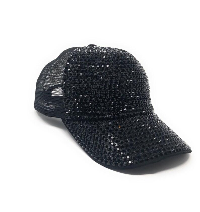 a8e1bfe7b9b Rhinestones Mesh Baseball Cap Bling Hat Adjustable Hat | Etsy