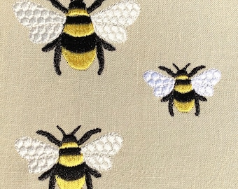 MINI embroidery STRIPY BEE  3 sizes  4x 4 hoop instant download