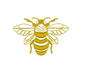 Bee embroidery 4 sizes  fits 4 x 4 hoop INSTANT DOWNLOAD