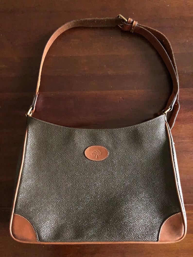ddceb379ed Vintage leather Mulberry scotchgrain shoulder bag