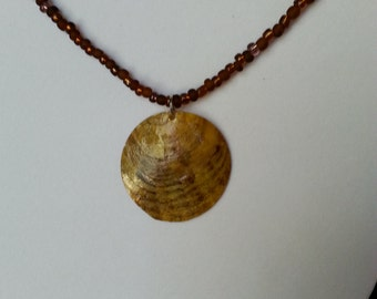 Yellow Shell Necklace