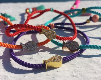 Colorful cute fish-bracelet with tassels