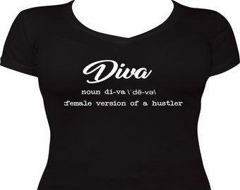 Diva V Neck (Fitted and Relaxed Fit)