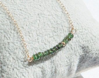 Emerald Necklace, Emerald Bar Necklace, Emerald Jewelry, Real Emerald Necklace Gold, May Birthstone Jewelry, May Birthstone Necklace
