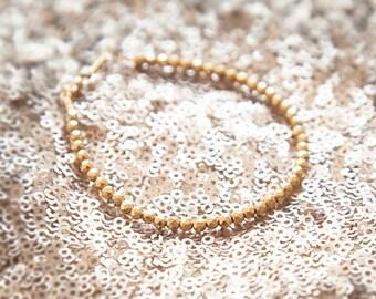 Beaded Bracelet, Minimal Bracelet, Thin Gold Bracelet, Layering Bracelet, Everyday Jewelry, Hematite Bracelet, Gold Gemstone Beaded Bracelet