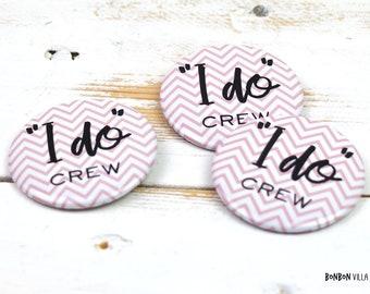 JGA Button, I do Crew, Hen Party, 55 mm, Groomswoman, Bridesmaid, Bride, JGA, Wedding Celebration, Lapel Button