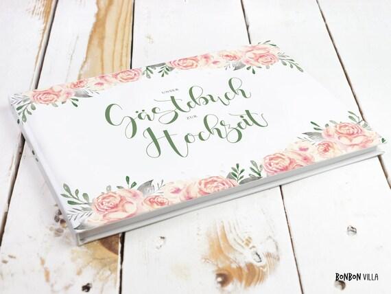 Gastebuch Hochzeit Vintage A4 Hochzeitsgastebuch Etsy