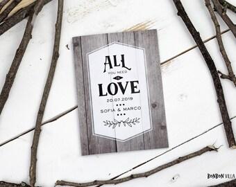 30 x wedding invitation * into the wood *.