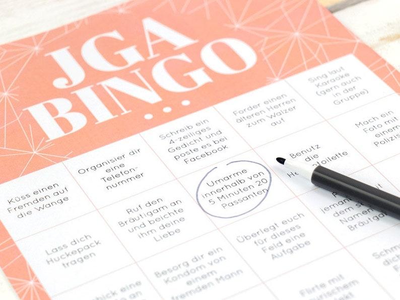 JGA Bingo Spiel