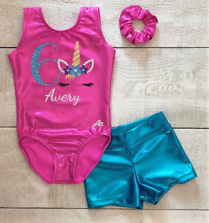ede9ed5f Unicorn gymnastics leotard set personalized with age and name | Etsy