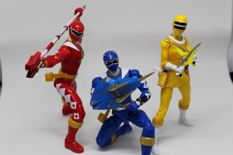 Dino Thunder Power Rangers Weapons - NOT PAINTED