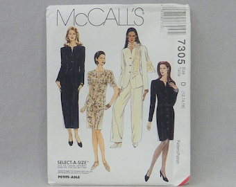 1994 Pattern - Misses' Jacket Dress Skirt in Two Lengths Pants - UNCUT McCall's 7305 - Size D 12 14 16 - Vintage 1990s Sewing Pattern