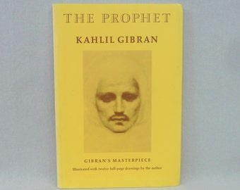 1995 The Prophet - Kahlil Gibran - Illustrated - Gibran's 1923 Masterpiece - Paperback Poetry Book - Vintage 1990s Reprint