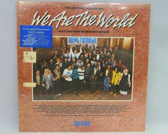 1985 We Are the World - USA for Africa - SEALED Vinyl LP Album 33 1/3 - Vintage 1980s Charity Record