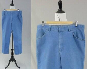 95f06daf7c9 80s Men's Jeans - Light Blue Denim Pants - Grandpa Jeans - 35x31 - Grandpa  Pants - 35