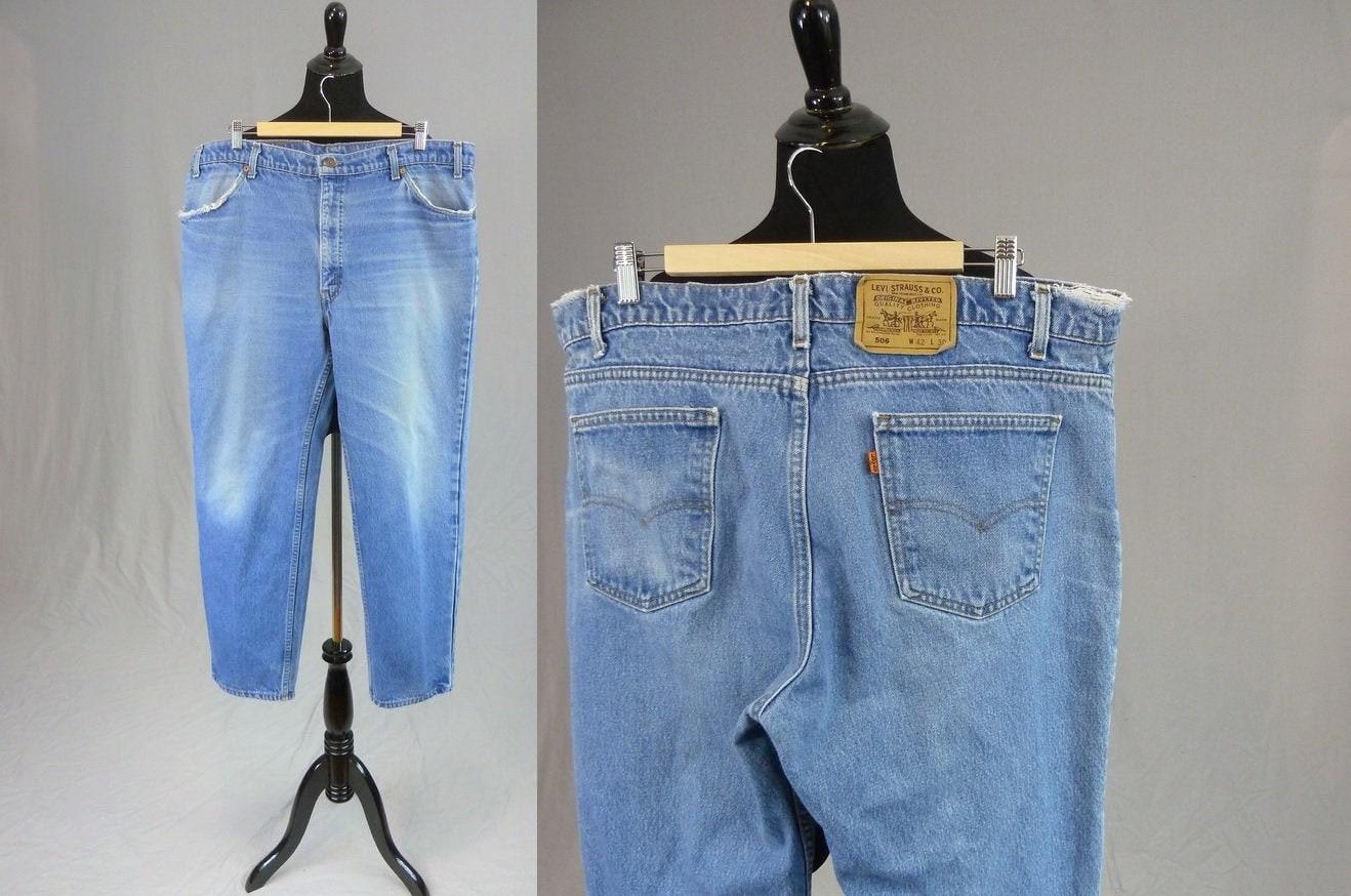 80s Dresses | Casual to Party Dresses 80S Mens Levis 506 Orange Tab Jeans - Vintage 1980S 40X29 40 Waist X 29 Length $40.00 AT vintagedancer.com