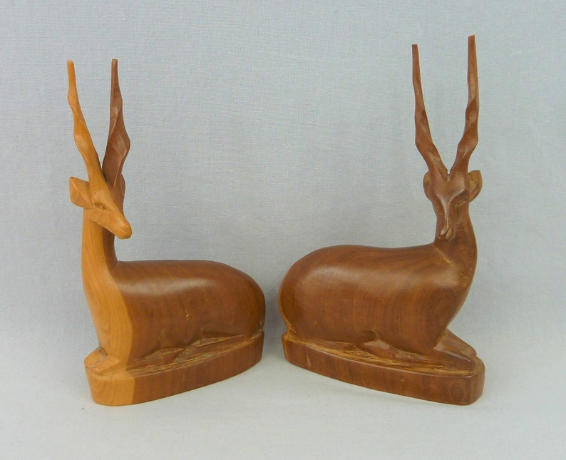 Hand Carved Kenyan Antelope Figurine