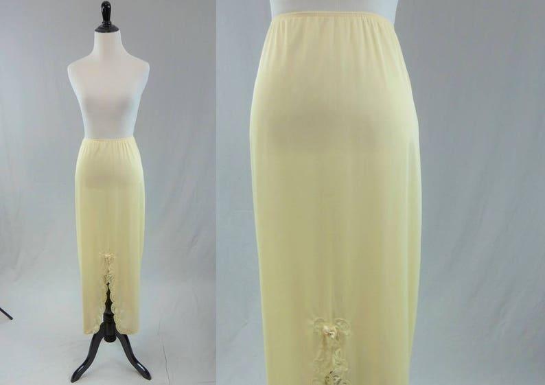 58491eb039 60s Maxi Skirt Slip Beige Formal Half Skirt Slip Lace Trim | Etsy