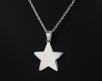 Star pendant etsy star necklace star pendant star silver tiny star 925 sterling silver chain necklace women jewelry gift made in thailand aloadofball Choice Image
