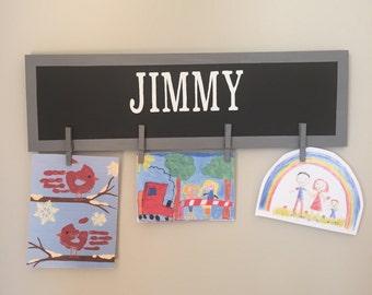 Customized Child's Art Display ~ art display