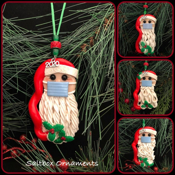 UpdateClassic Personalized Christmas Ornaments 2020 Quarantine Survivor Faceless Old Man Toy Covid/_Santa Wearing/_Mask in Quarantine Keepsake Unique Luxury Ornament Christmas Figurine