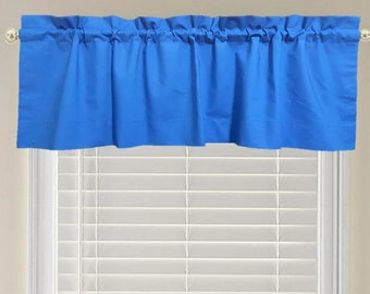 Royal Blue Window Valance