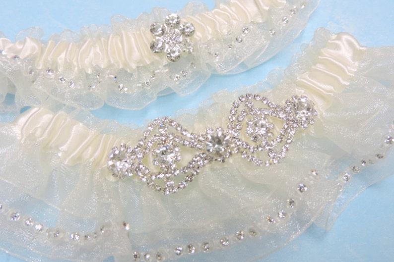Sparkle Wedding Garter Set Garters Wedding Garter Set