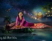 Magic Carpet, Princess Jasmine,  Digital Backdrop, Flying Carpet, Aladdin, Princess Jasmine, Digital Backdrop, Photography Backdrop