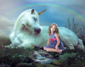Magical Unicorn Digital Backdrop, Photography Backdrop