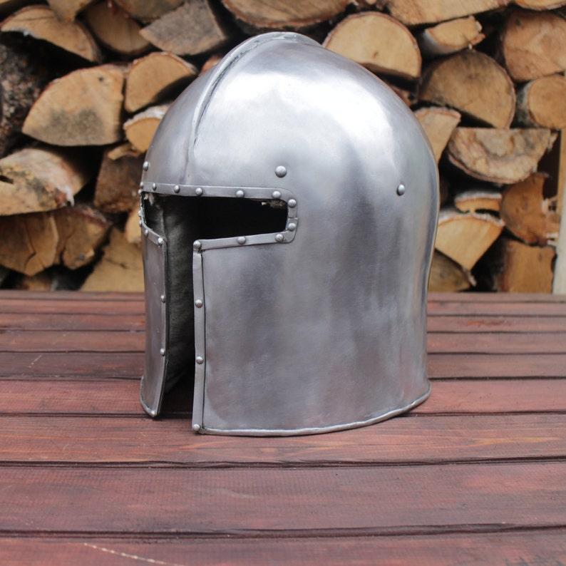Medieval Italian Barbute Helmet
