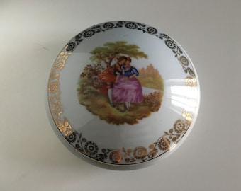Fragonard Limoges France porcelain jewelry box