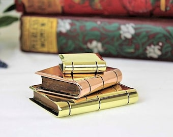 Antique Trench Art/Brass and Copper Trench Art/Brass Trench Art Miniature Books/Militaria (Ref1940C)