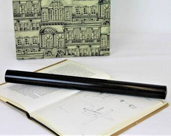Vintage Draughtmans Rolling Ruler/Antique Ebony Rolling Ruler/Architects Rolling Ruler/Navigator(ref1979X)