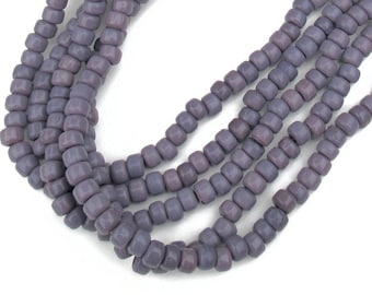 Glass Crow Beads, Lavender Beads, 9 mm, strand of 100, Roller Beads, Pony Beads