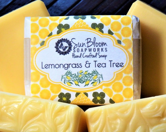 Lemongrass & Tea Tree // Essential Oil Soap