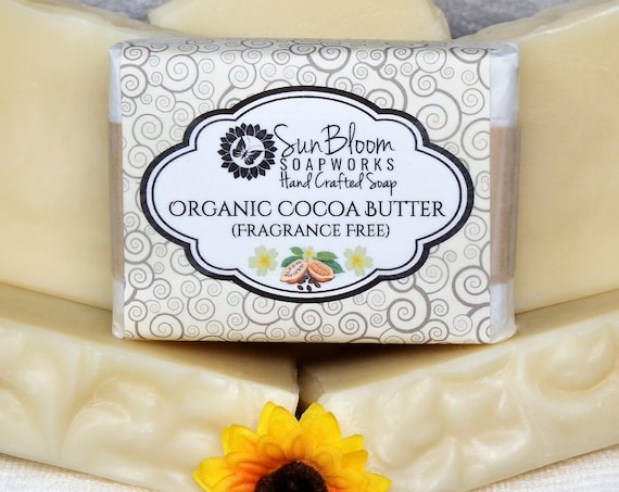 Organic Cocoa Butter Soap // Unscented Soap