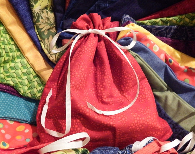 Hand Sewn Fabric Gift Bags