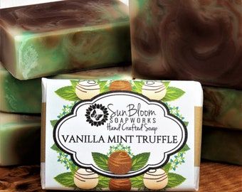 Vanilla Mint Truffle Soap