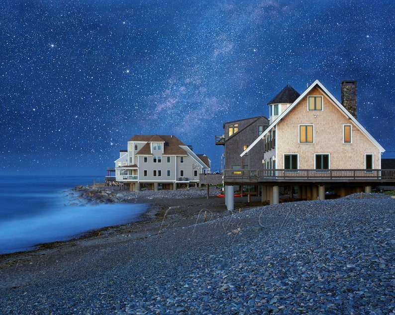 A Night at Egypt Beach Scituate MA night photography beach image 0