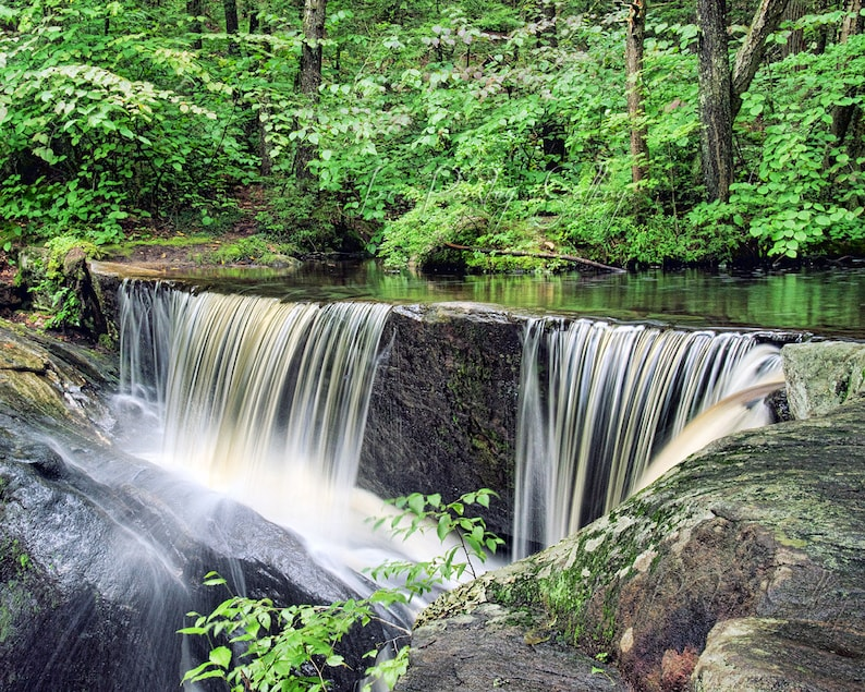 Enders Falls Granby CT waterfall photography woods image 0