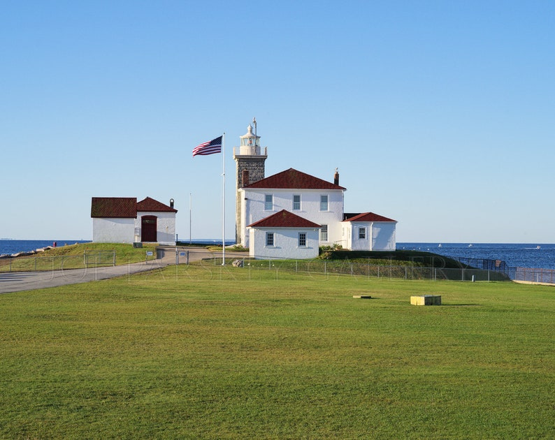 Morning at Watch Hill Light Westerly Rhode Island image 0